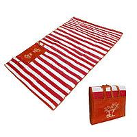 Пляжный коврик сумка складной Пальмы 150 на 170 см красный
