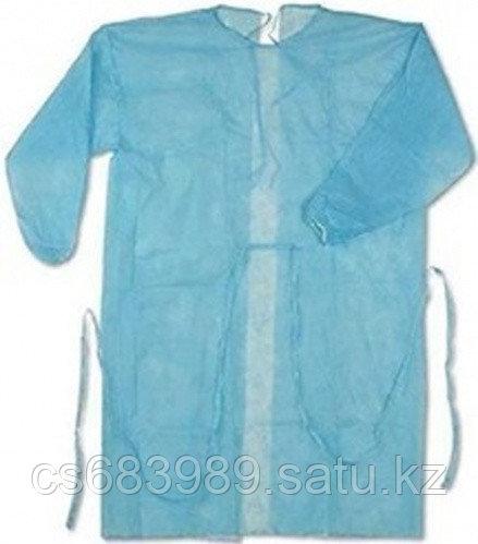 Одноразовый медицинский халат (40 грамм) +77758242563
