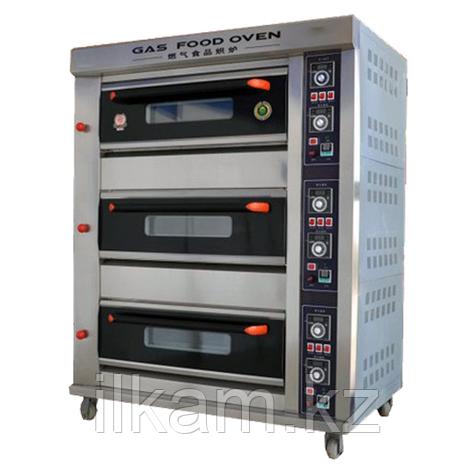 Шкаф пекарский промышленный 3-секционный газовый, фото 2