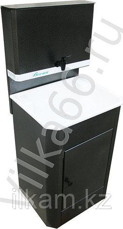 Умывальник для дачи с водонагревателем, нержавеющая мойка, фото 2