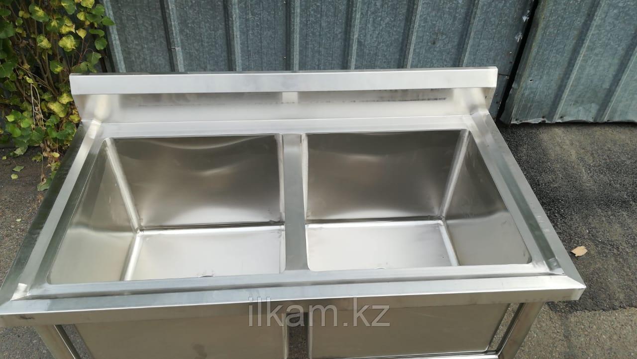 Ванна моечная 2-секционная Глубокая 40 см