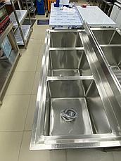 Ванна моечная промышленная 3-секционная Глубокая, фото 2