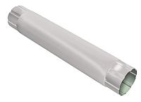 Труба круглая соединительная Ø100 мм, 1000 мм 0,5 двусторонний RAL 9003 Белый