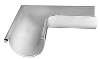 Угол желоба внешний 90 гр Ø125 мм 0,5 штампованный RAL 9003 Белый