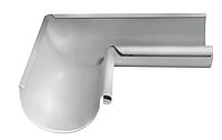 Угол желоба внутренний 90 гр Ø125 мм 0,5 штампованный RAL 9003 Белый