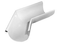 Угол желоба внешний 135 гр Ø125 мм 0,5 RAL 9003 Белый