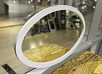 Зеркало овальное в белой раме из МДФ, 725х420мм