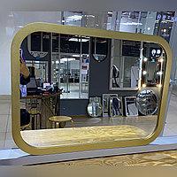 Зеркало в золотистой раме из МДФ, 565х385мм