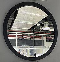 Зеркало круглое в черной раме из МДФ, d=450мм