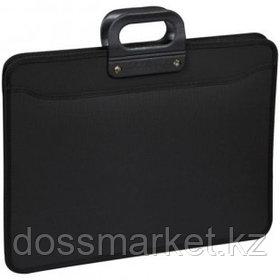 Папка-портфель OfficeSpace, А3 формата, 3 отделения, на молнии, черный