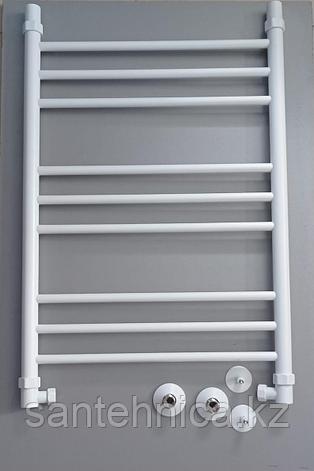 Полотенцесушитель водяной нерж. сталь ЛП (г2) 80/50 RAL9016 Белый, фото 2