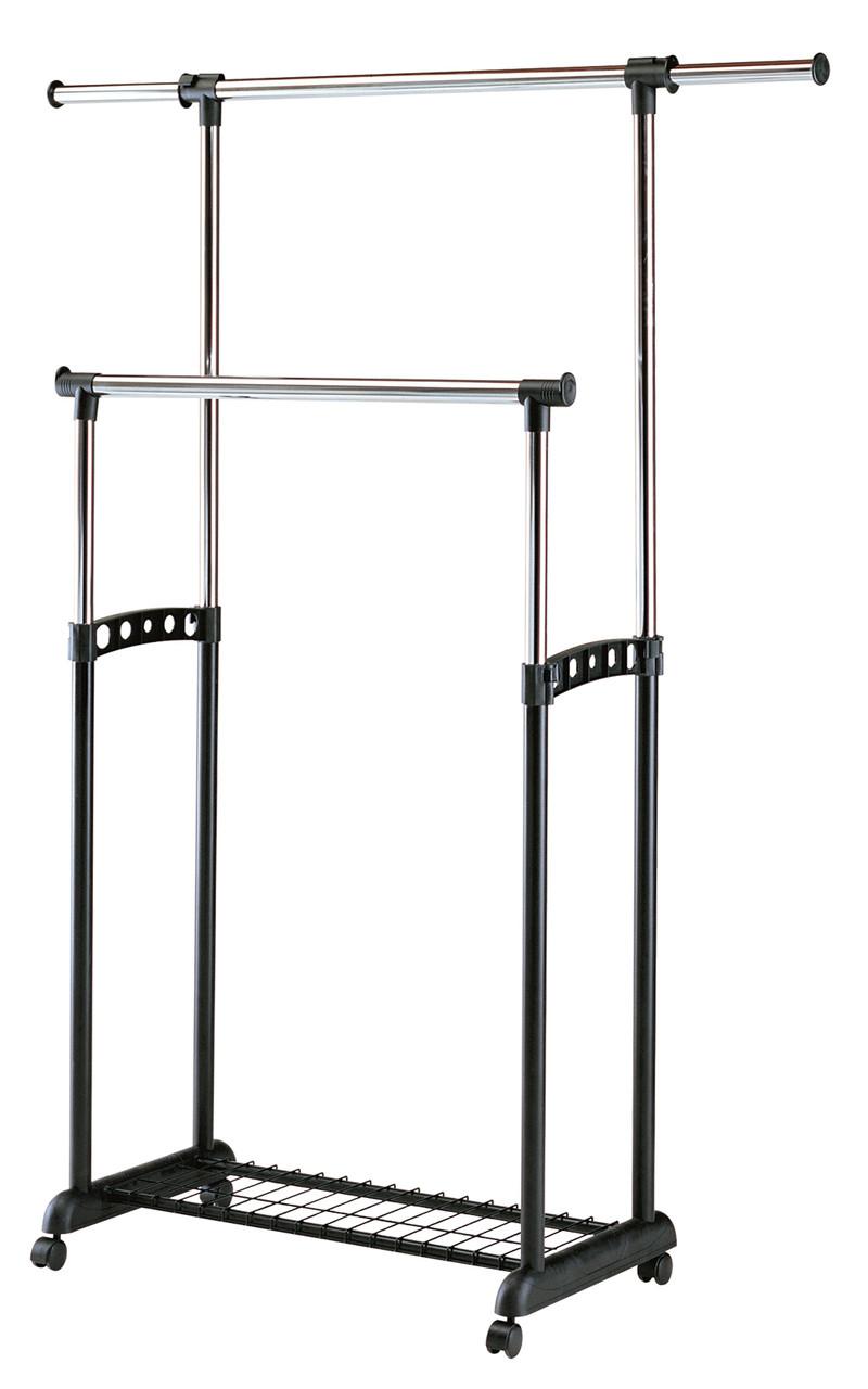 Вешалка для одежды двойная гардеробная Табыс EP 9098-1 (черный цвет)