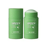 Глиняная маска стик для глубокого очищения и сужения пор с экстрактом Зеленого Чая Green Mask Stick 40 gr