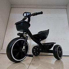 """Детский трехколесный велосипед """"Черный Бумер"""" с фарой. Kaspi RED. Рассрочка."""