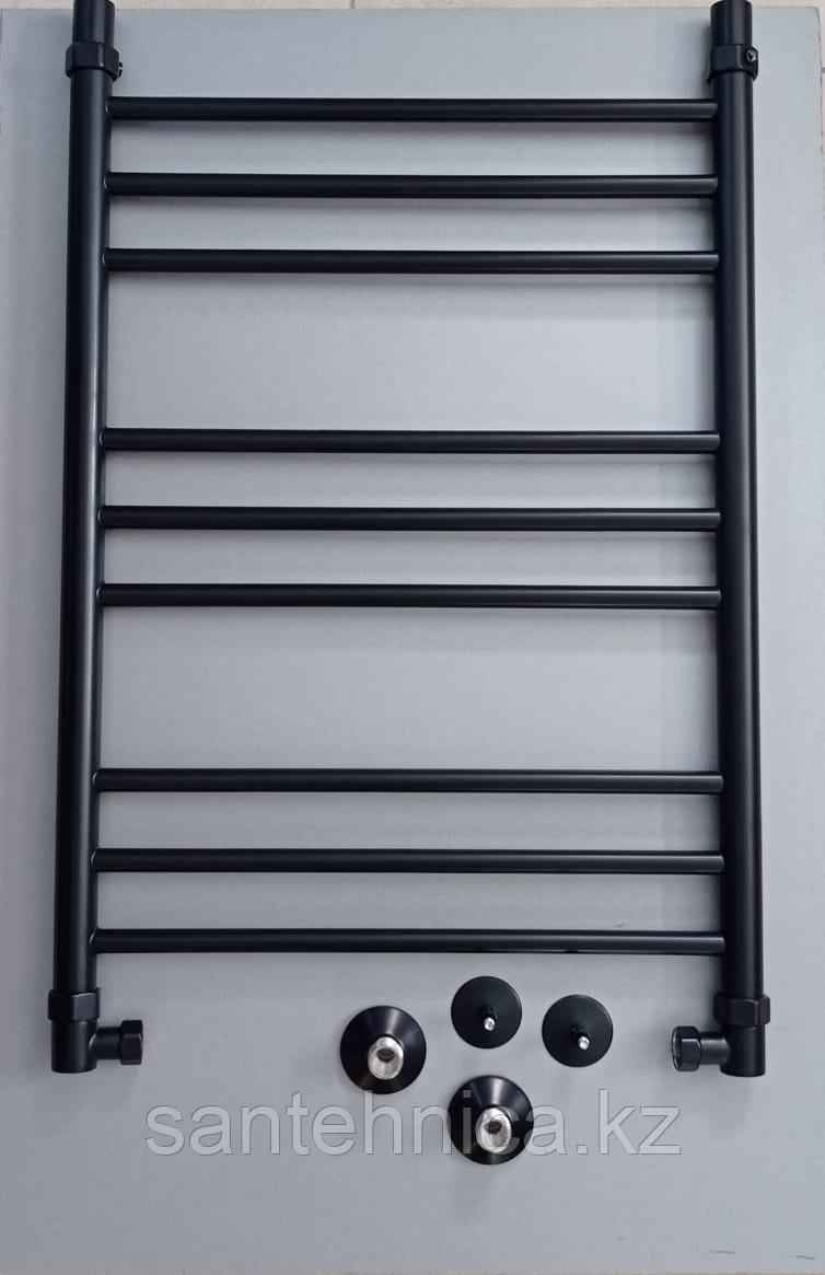 Полотенцесушитель водяной нерж. сталь ЛП (г2) 80/50 RAL9005 Черный матовый