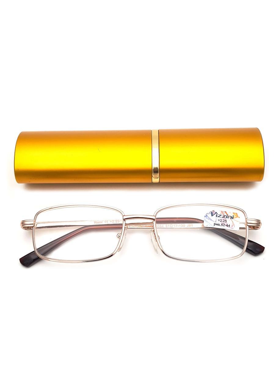 Готовые очки для зрения с диоптриями от +0.50 до +4.00 (золото)