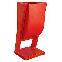 МЕТАЛЛИЧЕСКИЙ Мусорная Урна (Красный) (925x410x350) (TEKSAN)