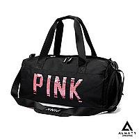 Черная спортивная сумка Pink