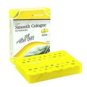 Ароматизатор гелевый под сиденье TOP CAR GEL Smooth Cologne в футляре (Лимон / 200 грамм)