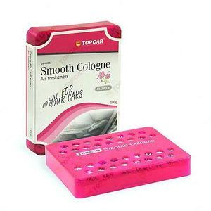 Ароматизатор гелевый под сиденье TOP CAR GEL Smooth Cologne в футляре (Цветы / 200 грамм)