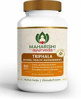 Трифала Махариши Аюрведа 60 таб., очищение крови, кишечника, запор, понос, сахарный диабет, желтуха