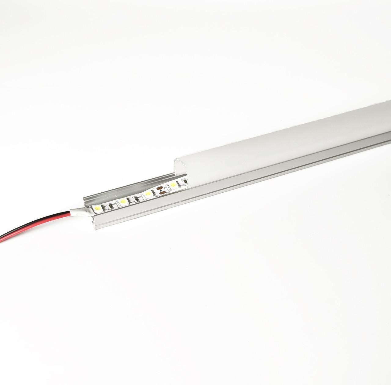 Алюминиевый световой профиль для подсветки в комплекте с рассеивателем (накладной HC-069 20х27 4M)