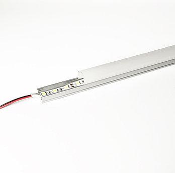 Алюминиевый световой профиль для подсветки в комплекте с рассеивателем (накладной HC-069C 29х20мм 4M)
