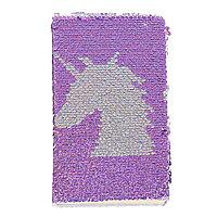 Ежедневник Записная книжка А6 80 листов сиренево-серебристые Единорог 14 х 11 см