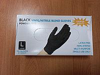 Перчатки винил/нитрил цвет черный 1/100.