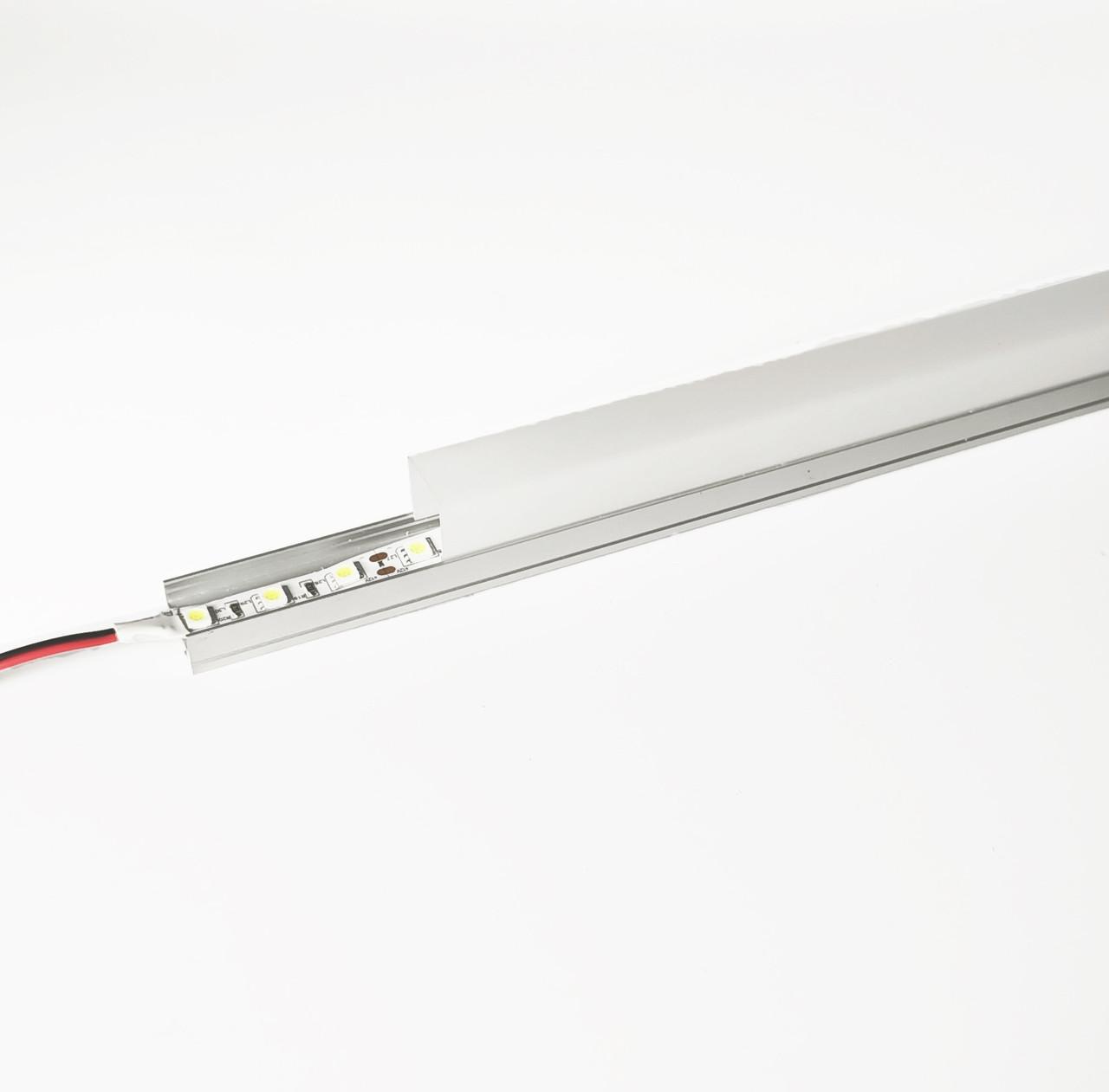 Алюминиевый световой профиль для подсветки в комплекте с рассеивателем (накладной HC-069B 20х27 4M)
