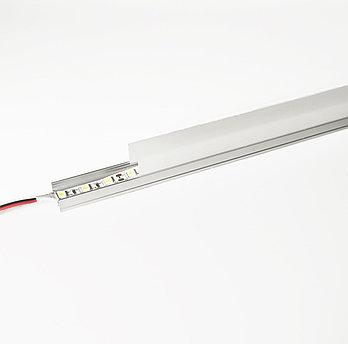 Алюминиевый световой профиль для подсветки в комплекте с рассеивателем (накладной HC-069B 29х20мм 4M)