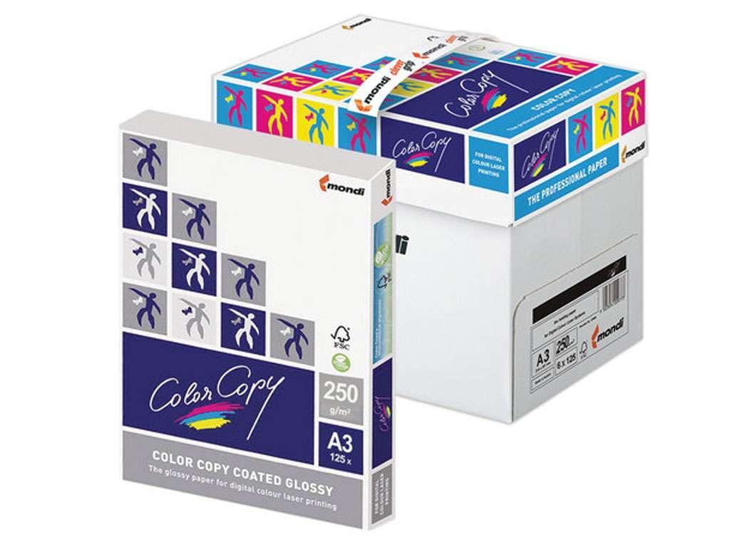 Бумага Color Copy Glossy, А3, 250 г/м2, 125 л., белая