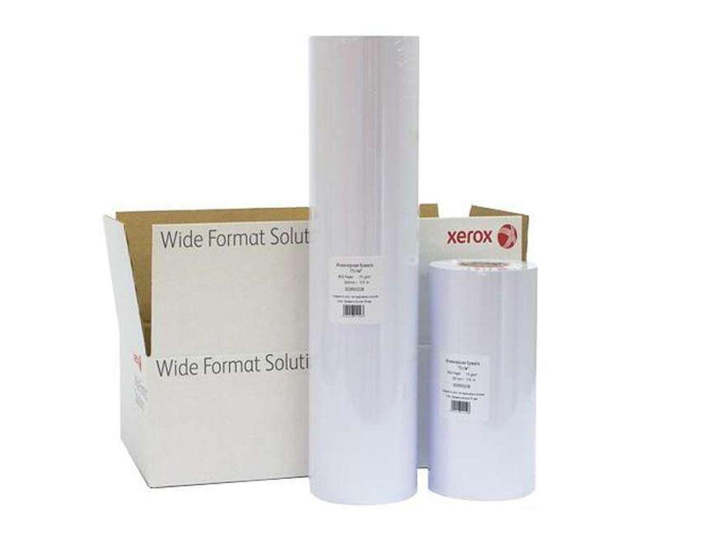 """Бумага для плоттера XEROX """"InkJet Roll"""" (610 мм х 50 м) 75 г/м2, втулка 50,8 мм"""