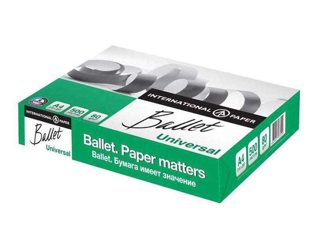 Бумага офисная Ballet Universal,  А4, 80г/м2, 500л