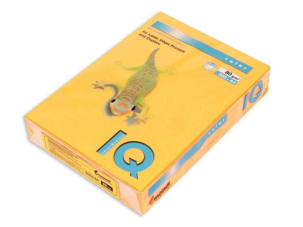 Бумага цветная IQ Color, А4, 80 г/кв.м., 500 л., оранжевый-неон NEOOR