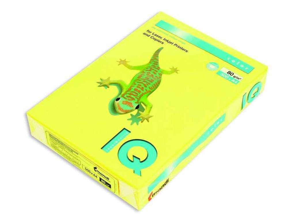 Бумага цветная IQ Color, А4, 160 г/кв.м., 250 л., канареечно-желтый CY39