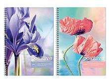 """Тетрадь общая ArtSpace """"Цветы. Think positive"""", А4, 80 листов в клетку, на спирали"""
