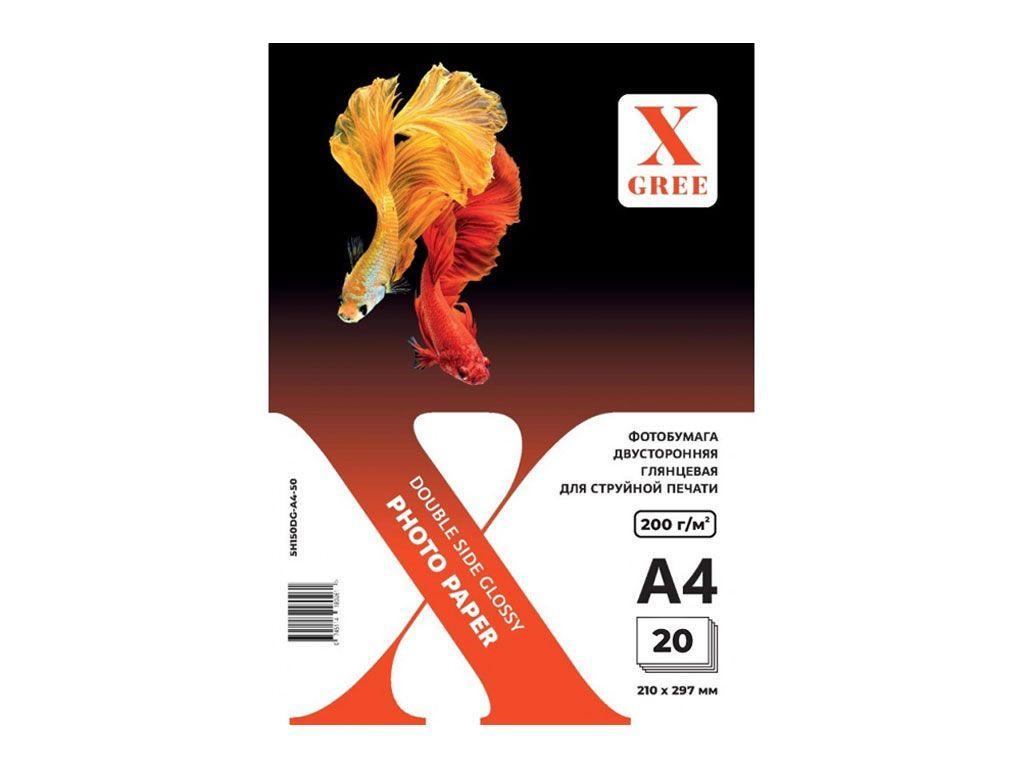 """Фотобумага X-GREE """"Premium"""" А4, глянцевая, 200 г/кв.м (20 листов)"""
