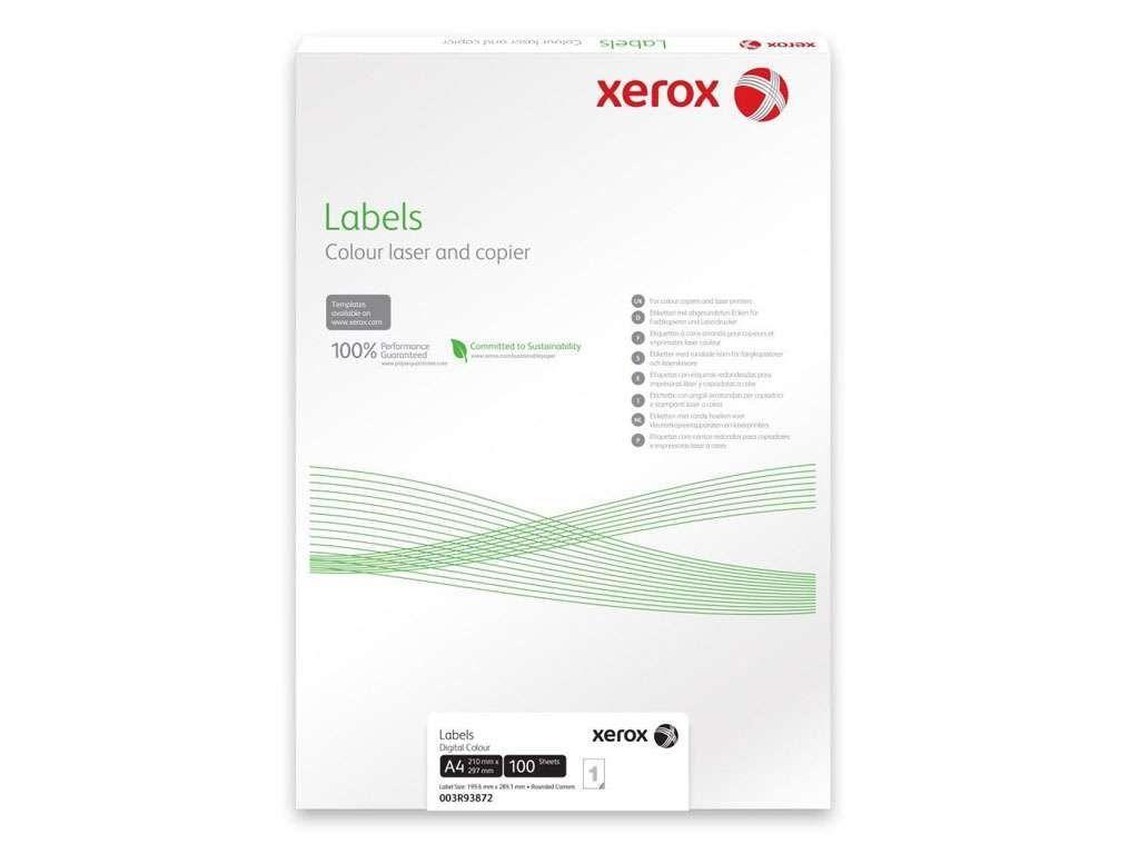 Этикетки самоклеящиеся XEROX, А4, 70 х 25,4 мм., 33 шт/лист, 100 л.