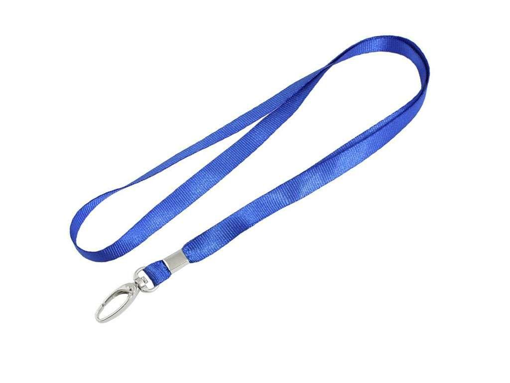 Шнурок для бейджа Kejea, металлический карабин, длина 45 см, синий