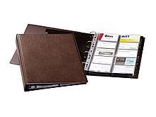 "Визитница DURABLE ""Visifix"" на 400 визиток, А4, PVC ""под кожу"" коричневая"
