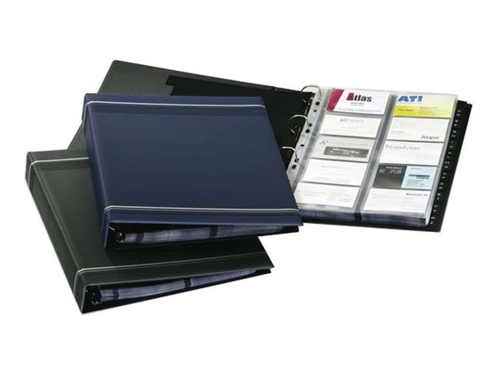 """Визитница DURABLE """"Visifix"""" на 400 визиток, А4, PVC темно-синяя"""