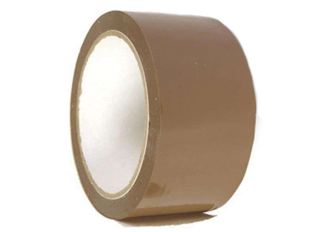 Клейкая лента упаковочная 48 мм х 125 м, коричневая