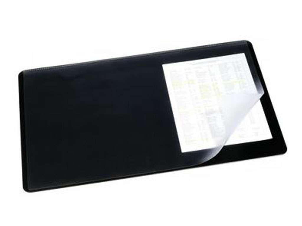 Покрытие настольное DURABLE 40 х 53 см, черное, с прозрачным верхом