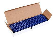 Пружины для переплета пластиковые 10 мм, синие
