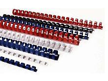Пружины для переплета пластиковые 20 мм, синие