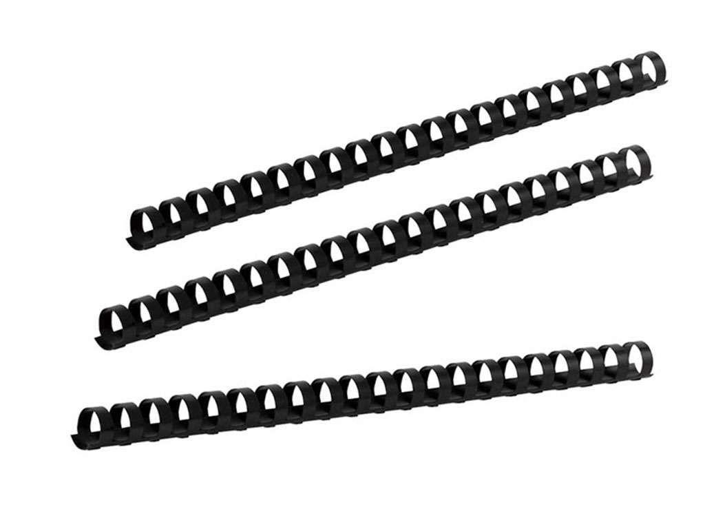 Пружины для переплета пластиковые 25 мм, черные