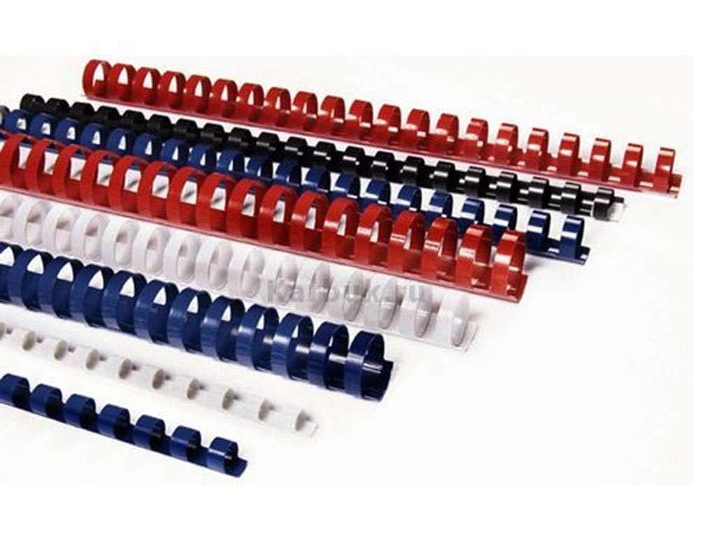 Пружины для переплета пластиковые 25 мм, синие