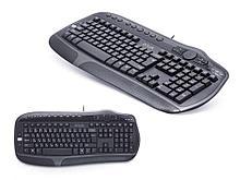 Клавиатура Delux DLK-9050UB черная, USB, Анг/Рус/Каз