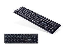 Клавиатура беспроводная Delux DLK-150GB черная, Анг/Рус/Каз